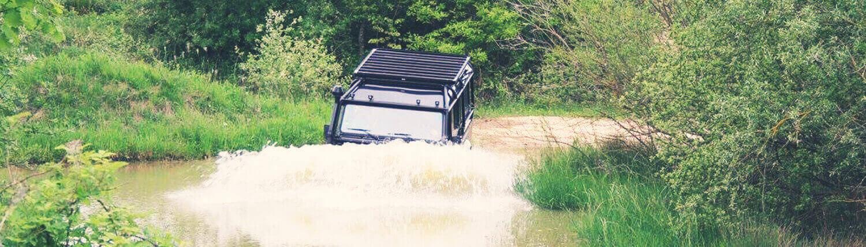 Defender water crossing