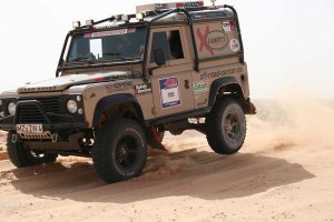 Defender Rally with ENGAGE4X4 suspension