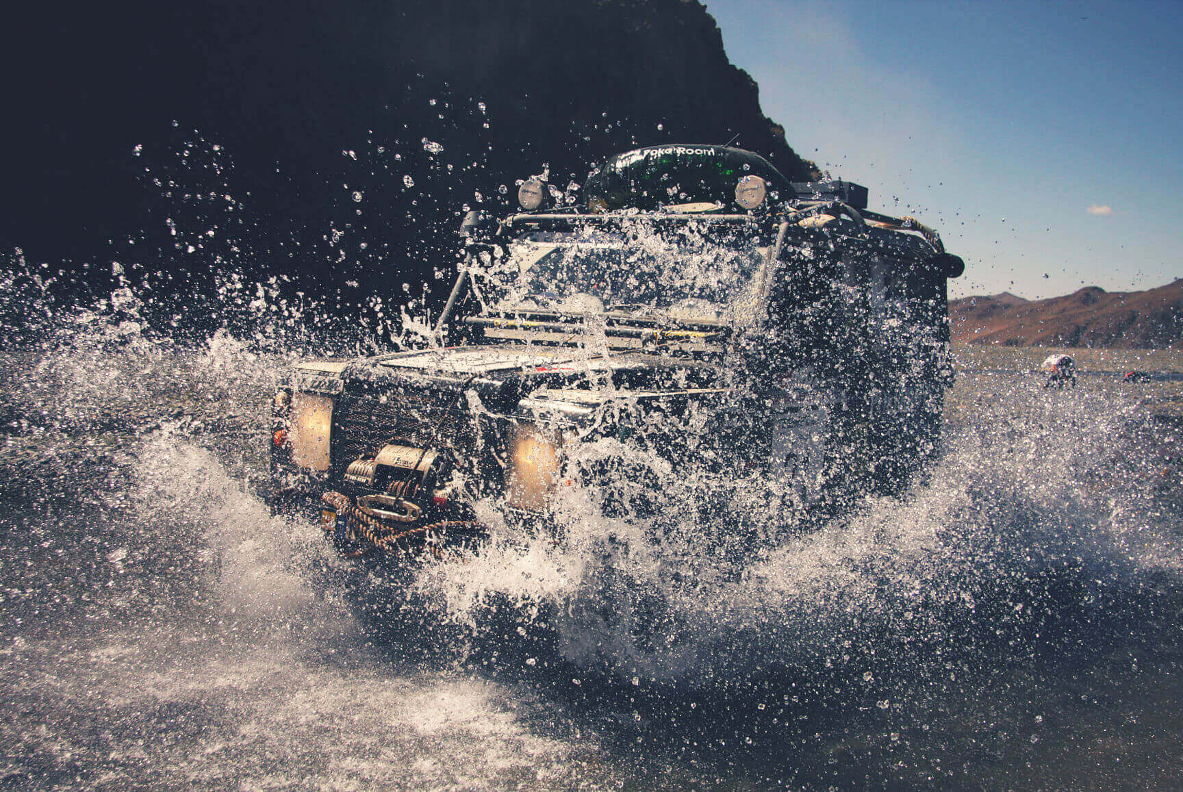 Rally Raid Defender with ENGAGE4X4 products