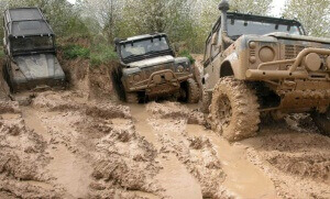 Offroad tour with Defender 90